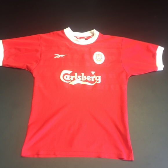 more photos e01c2 27dbc Vintage Reebok Red Liverpool Soccer Jersey